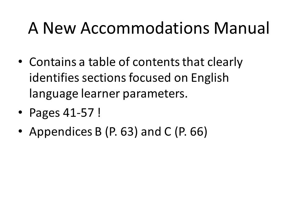 What's new for our English language learners in 2011.