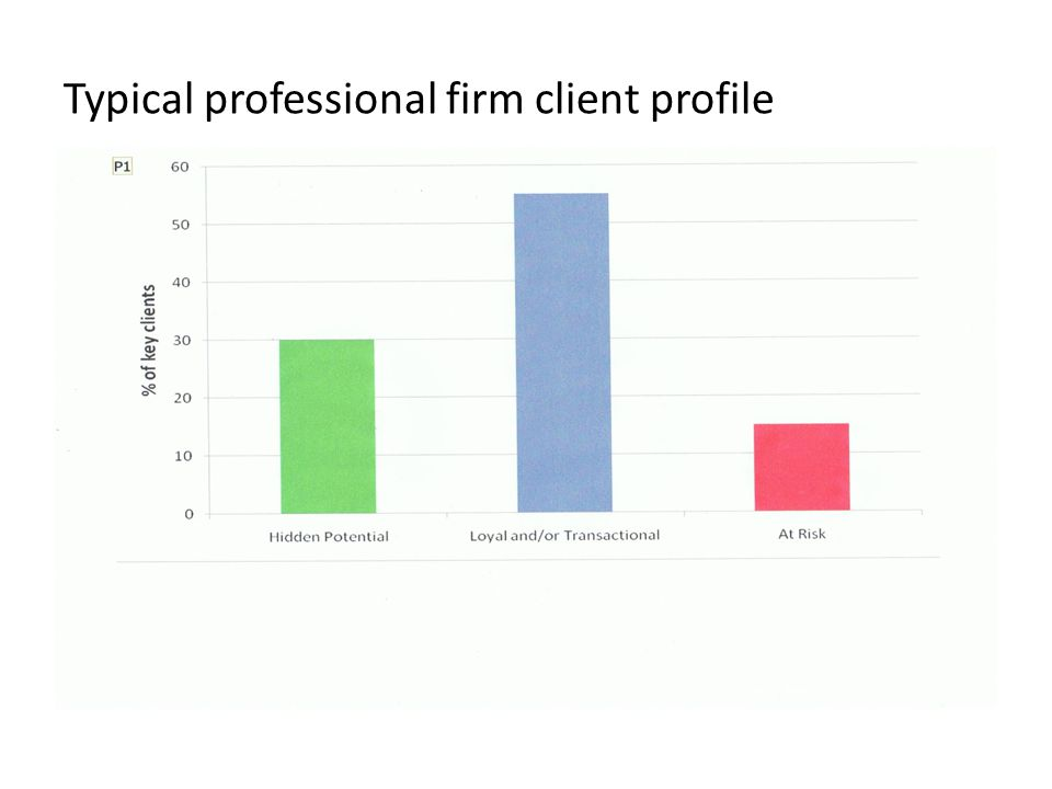 Typical professional firm client profile
