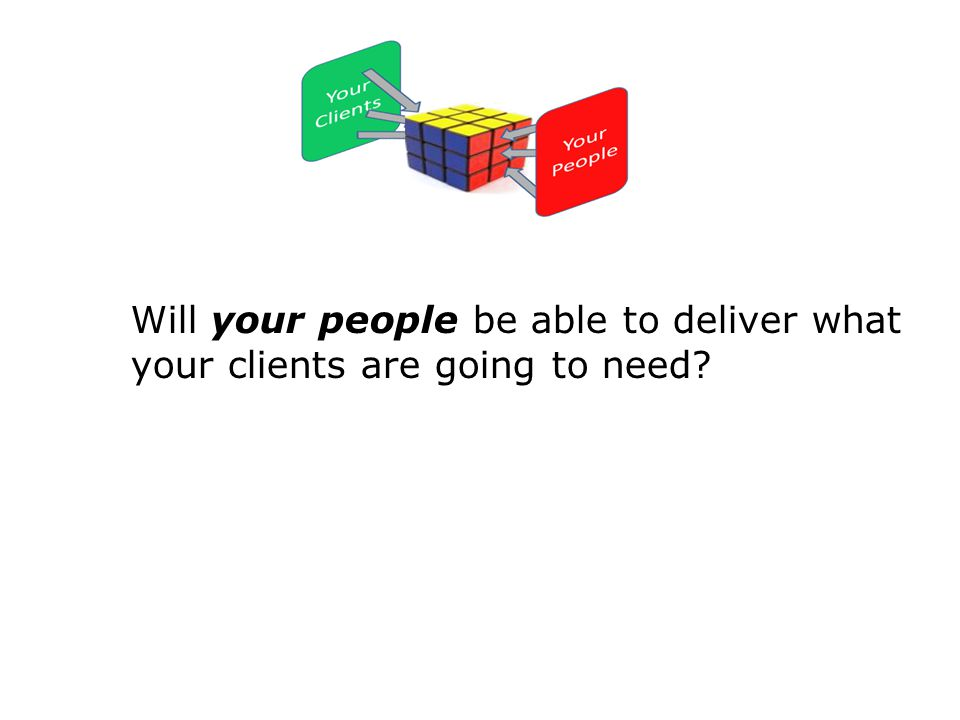 Will your people be able to deliver what your clients are going to need