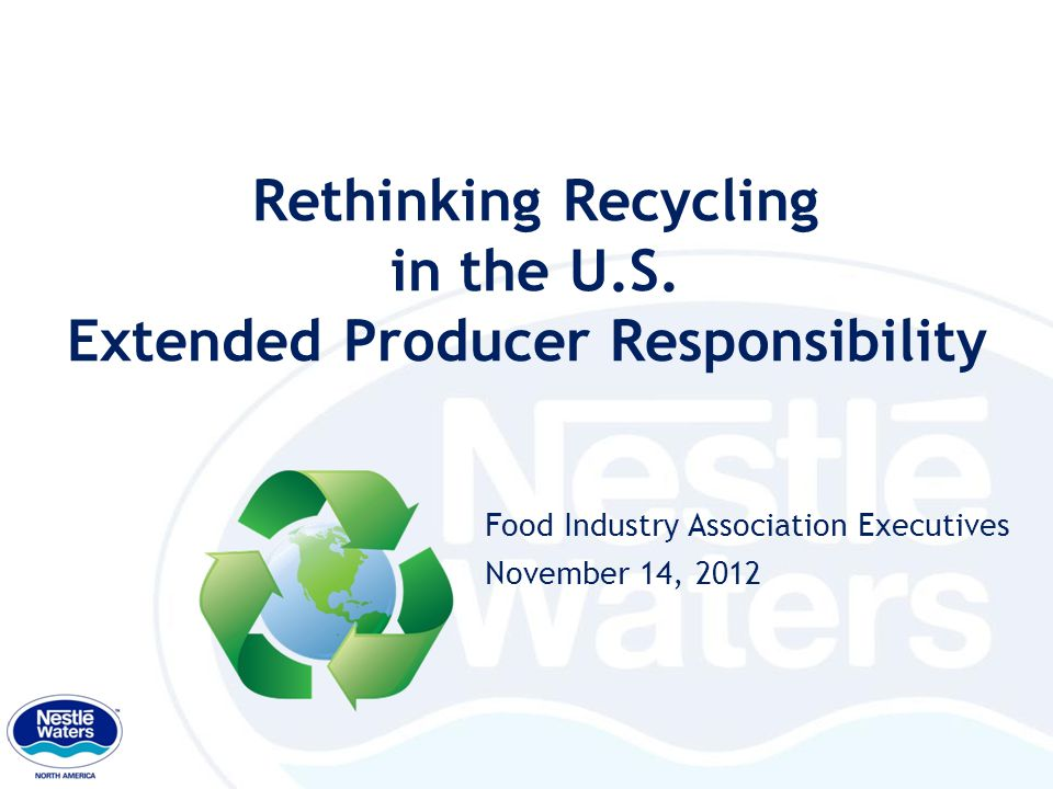Rethinking Recycling in the U.S.