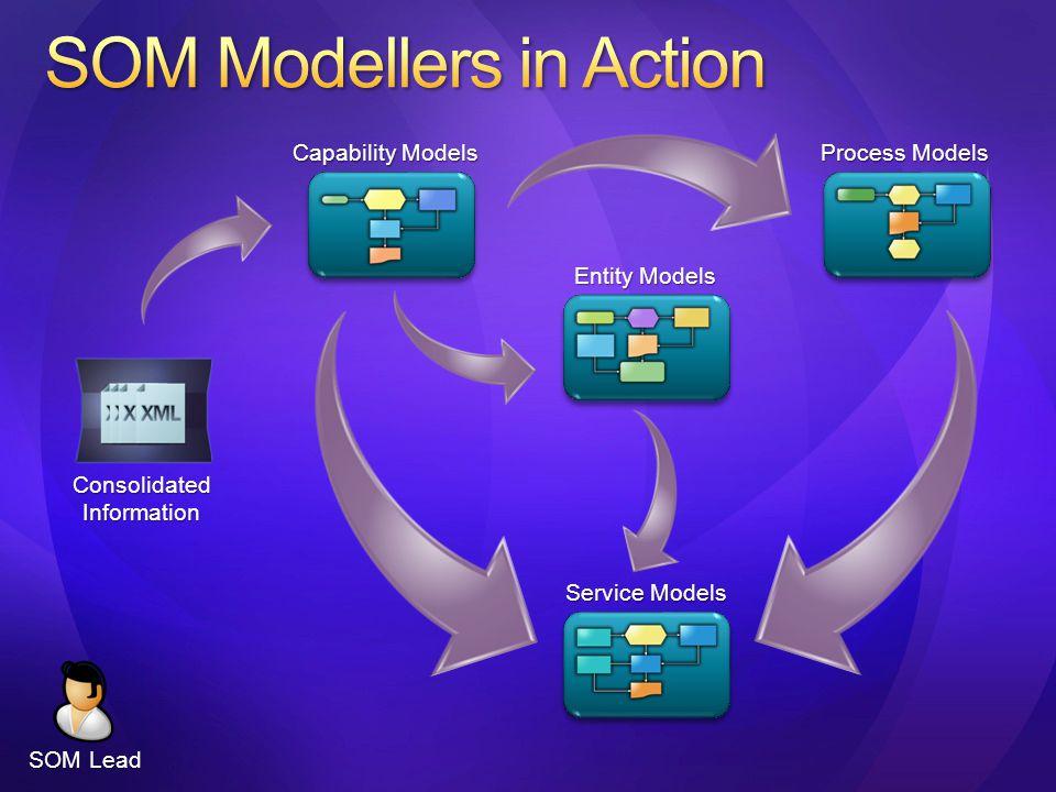 ConsolidatedInformation Capability Models Process Models Entity Models Service Models SOM Lead