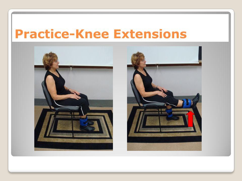 Practice-Knee Extensions