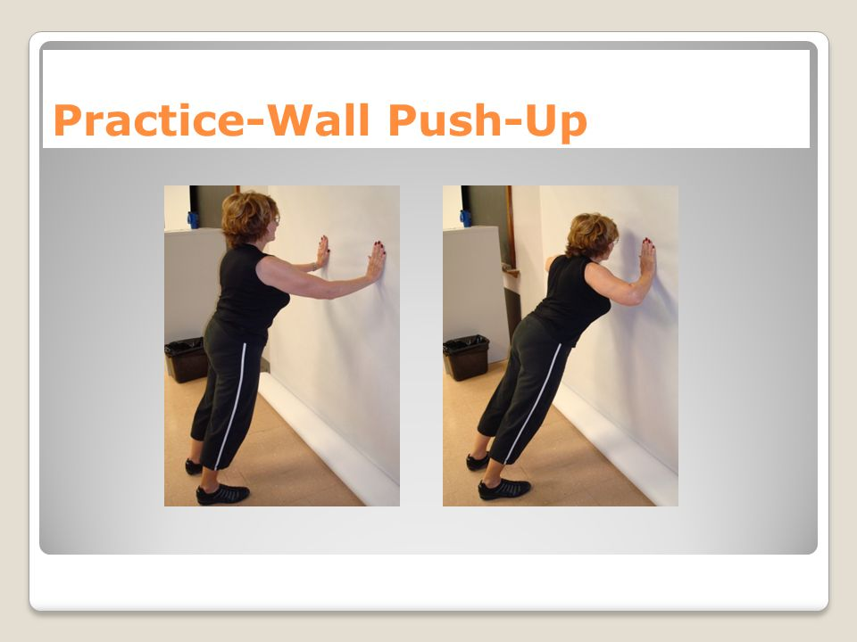 Practice-Wall Push-Up