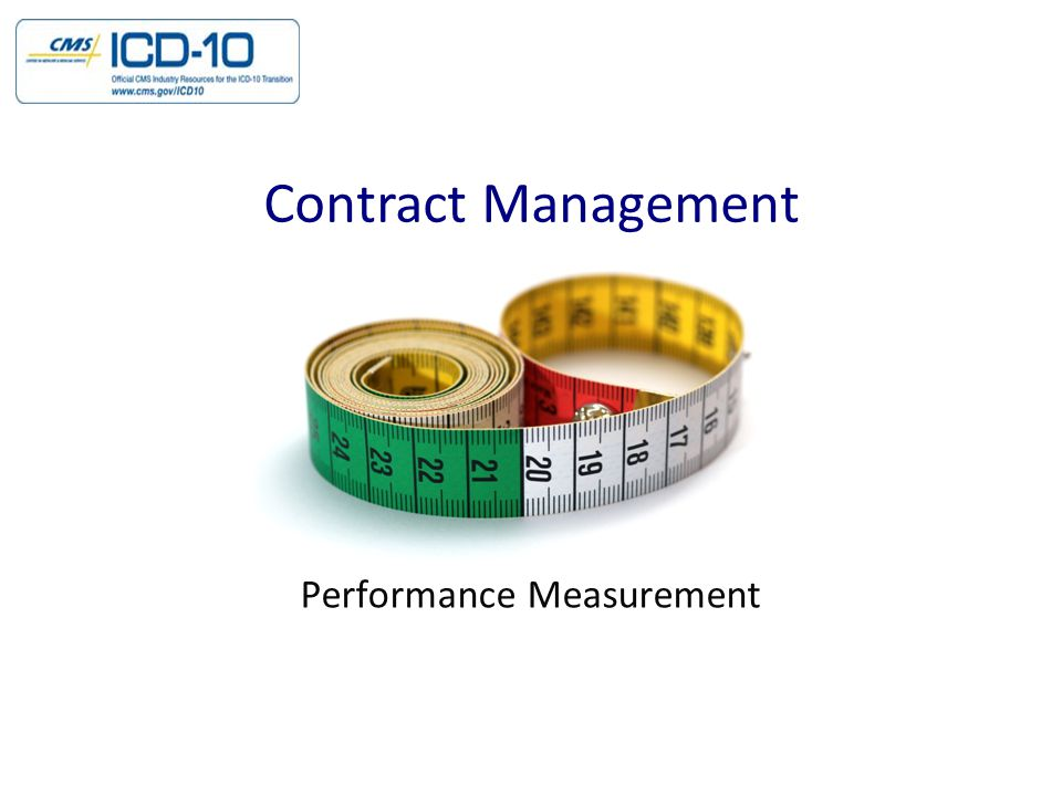 Performance Measurement Contract Management