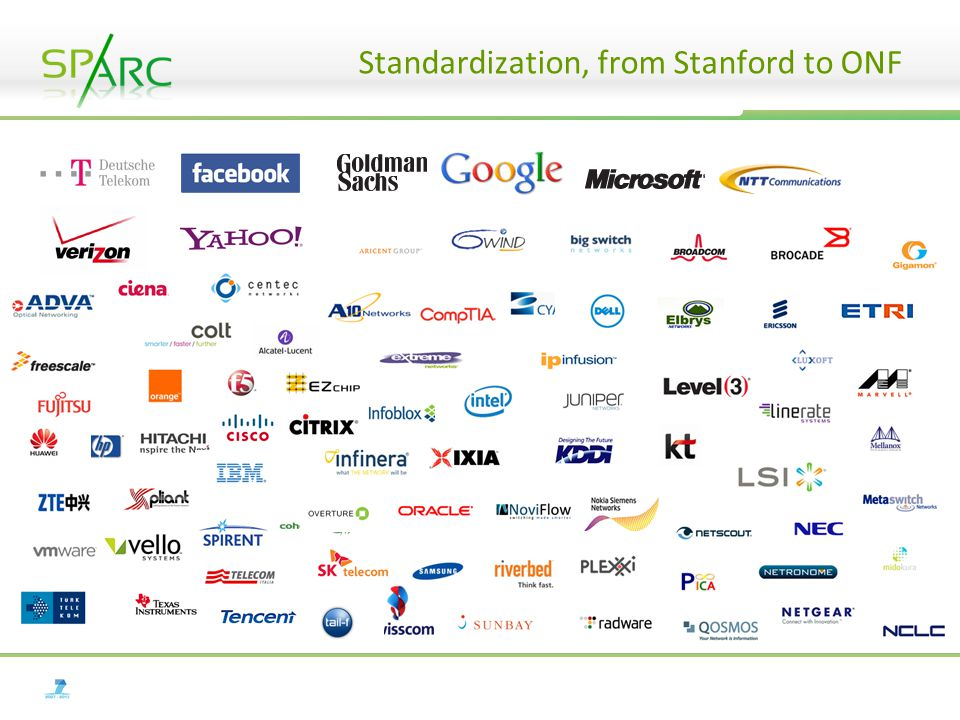 Standardization, from Stanford to ONF