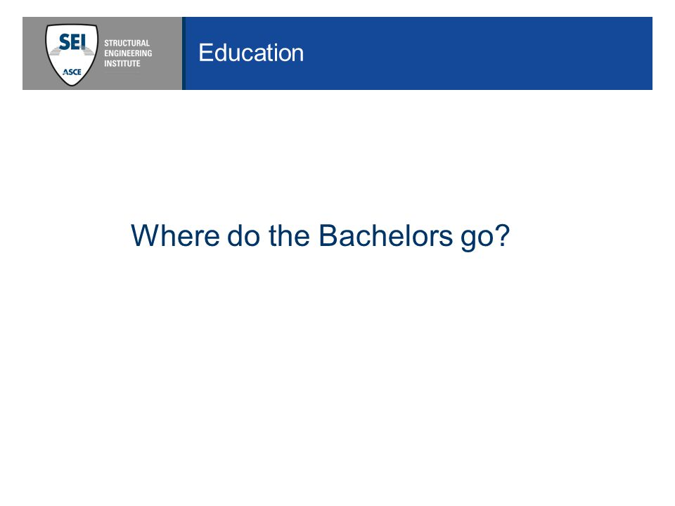 Education Where do the Bachelors go