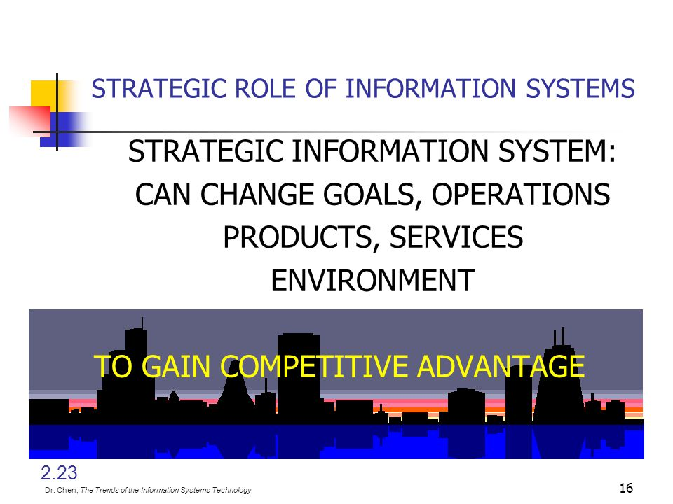 15 Cost leadership Differentiation Focus Expanded generic strategies Strategic positioning (e.g., internal efficiency) Customer service and my own vie