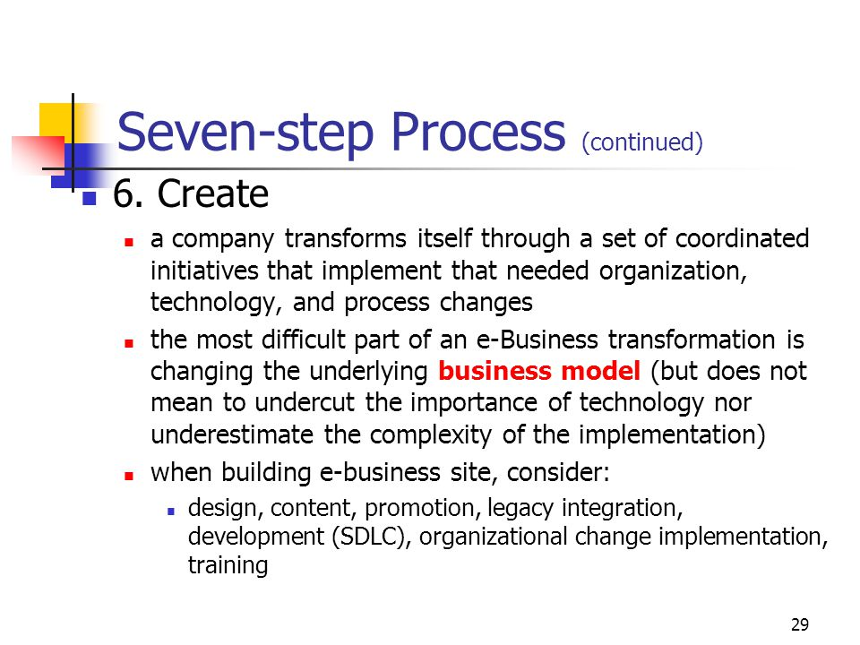 28 Seven-step Process (continued) 5.