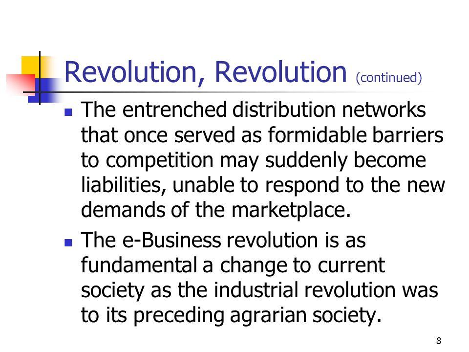 7 Revolution, Revolution...The e-Business revolution is impossible to ignore.