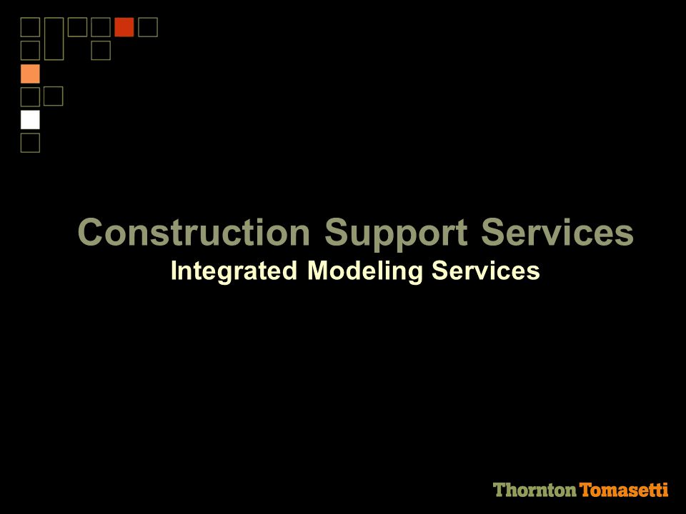 Construction Support Services Integrated Modeling Services