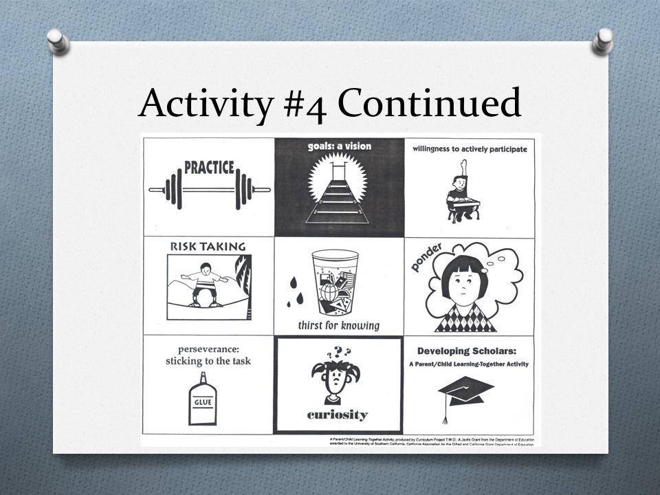 Activity #4 Continued