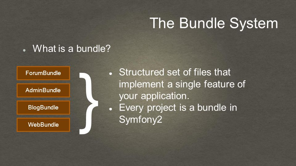 The Bundle System ● What is a bundle.