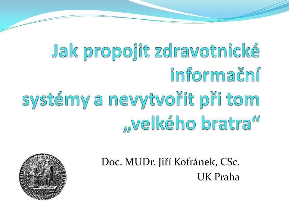 Doc. MUDr. Jiří Kofránek, CSc. UK Praha