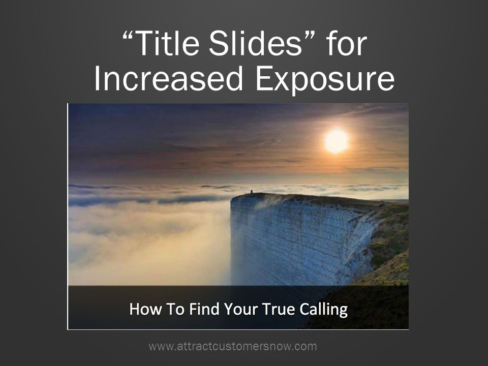 How to Create This Title Slide Visual TURN THIS: INTO THIS: This template will help you take a simple status update – such as a blog post, article, or marketing offer – and turn it into a visual representation of that the social media user could be reading, using, or enjoying.