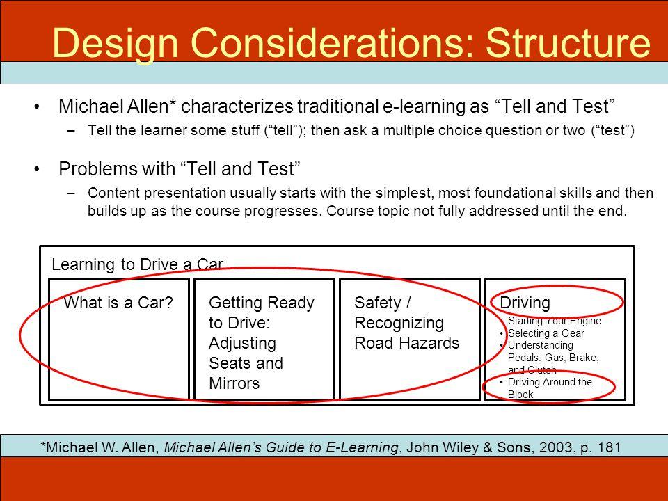 ITEC 715 Design Considerations: Structure *Michael W.