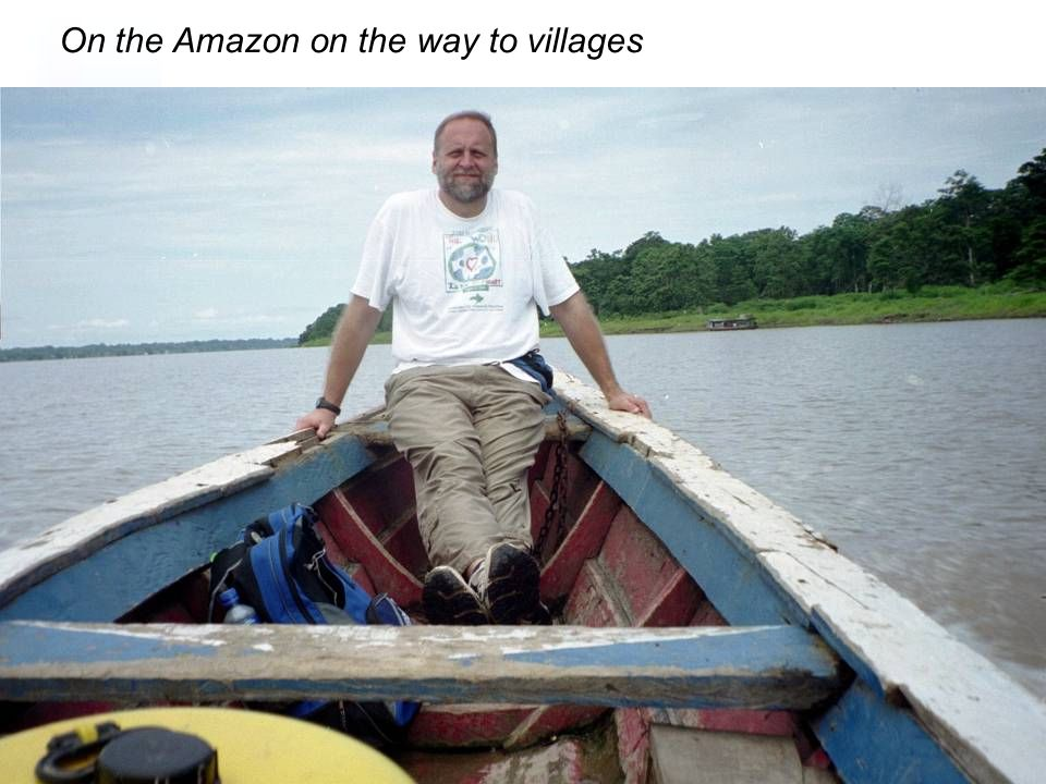 On the Amazon on the way to villages
