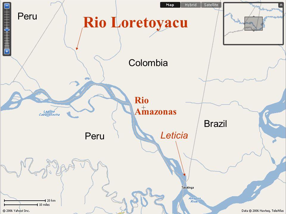 Rio Loretoyacu Leticia Colombia Peru Brazil Peru Rio Amazonas