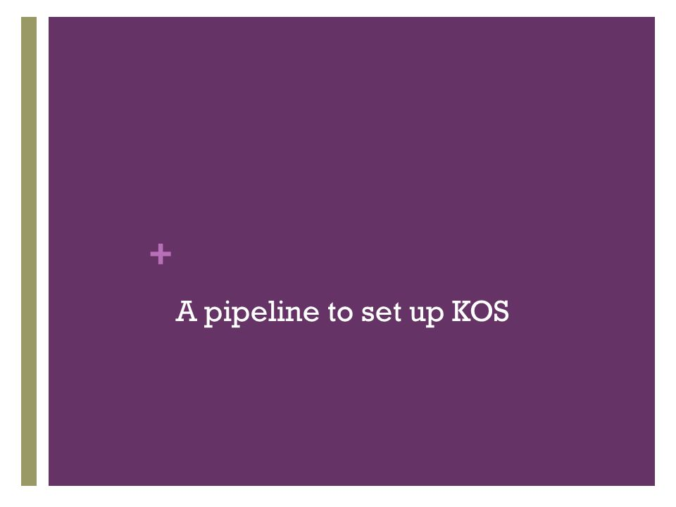 + A pipeline to set up KOS