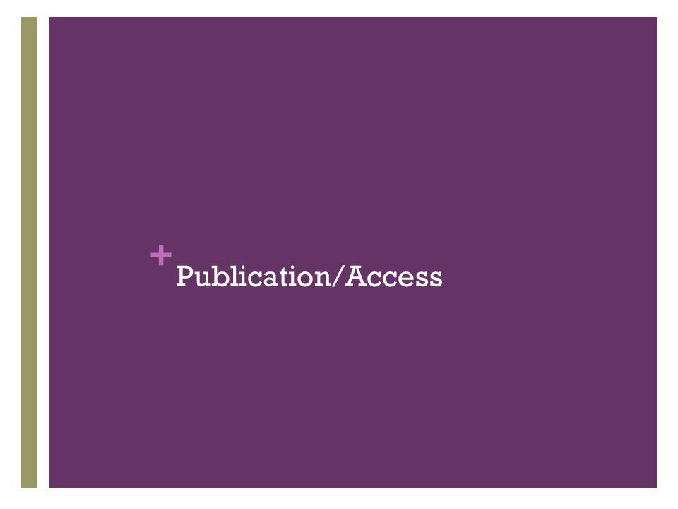 + Publication/Access