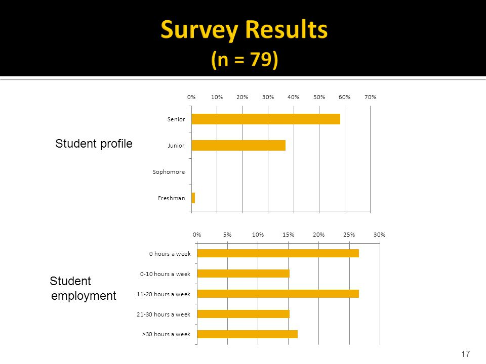 17 Student profile Student employment