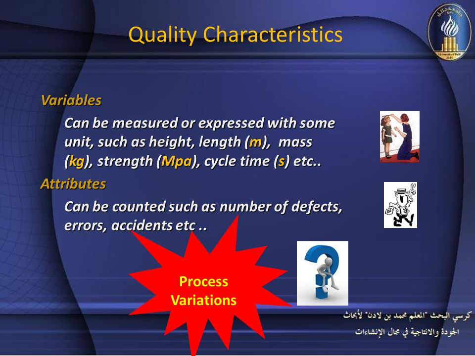 Variability and Quality delivery timeswork practices: more wastehigher costspoor quality delivered to customers The more variation in product characteristics, in delivery times, in work practices: the more waste, higher costs and poor quality, is delivered to customers.