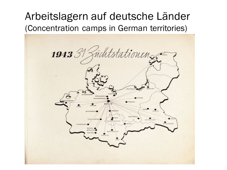 Tod im Arbeitslagern (Death in the concentration camps) When prisoners arrived at the camps, they were immediately sorted into two groups: those fit to work, and those not fit.