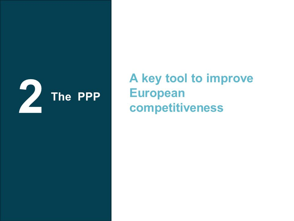 Telefonica I+D 2 A key tool to improve European competitiveness The PPP
