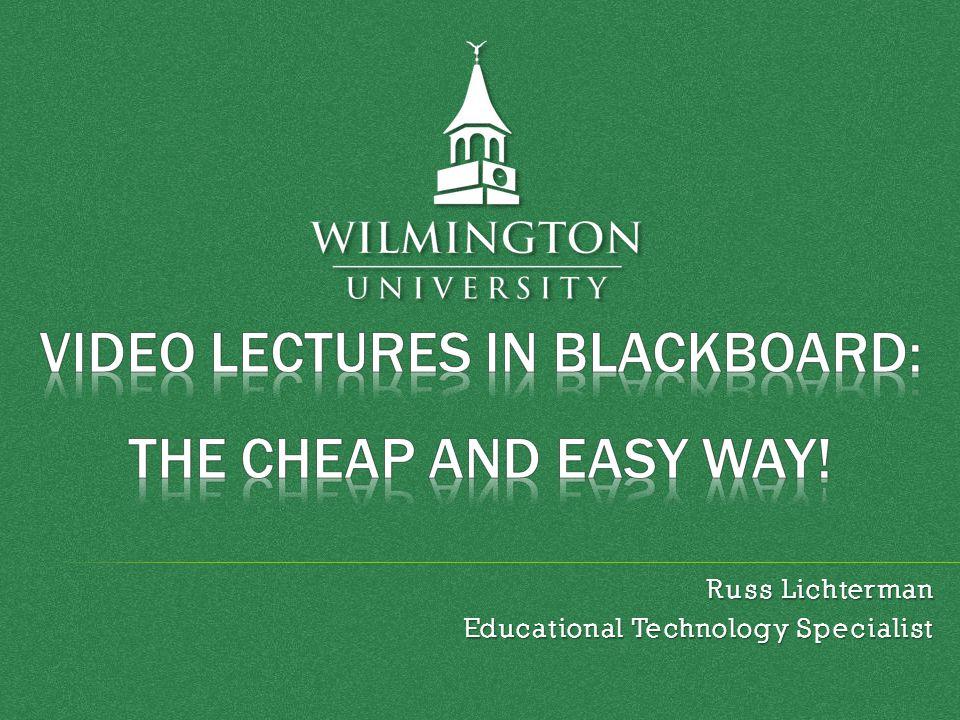 Russ Lichterman Educational Technology Specialist