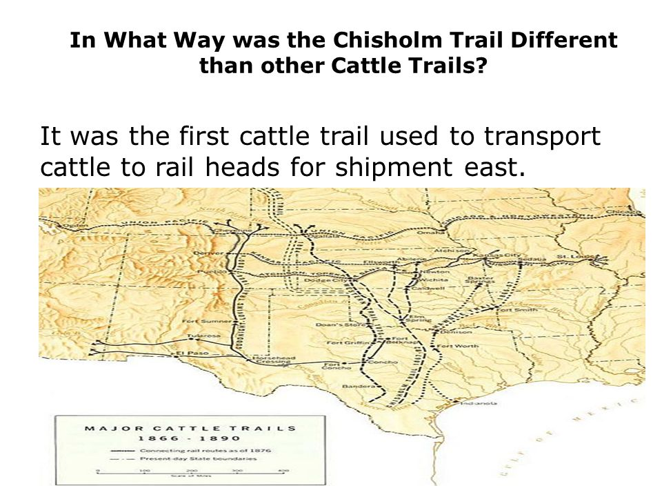 In What Way was the Chisholm Trail Different than other Cattle Trails.