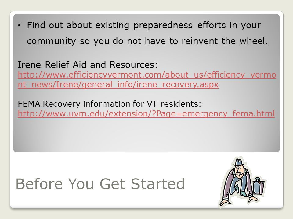 Becoming Involved in Disaster Preparedness and Response in Your Community Adapted from Natural Rural Behavioral Health Center (NRBHC) In Production wi