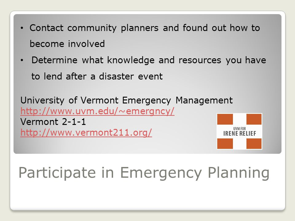 Build Collaboration For Long-Term Recovery Services in the Community Rumor control Mental health services Economic supports Vermont Department of Heal