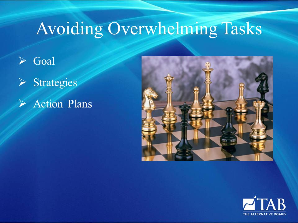 Avoiding Overwhelming Tasks  Goal  Strategies  Action Plans