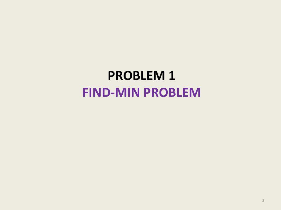 PROBLEM 1 FIND-MIN PROBLEM 3