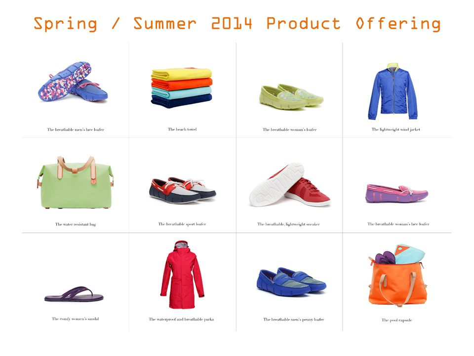 Spring / Summer 2014 Product Offering