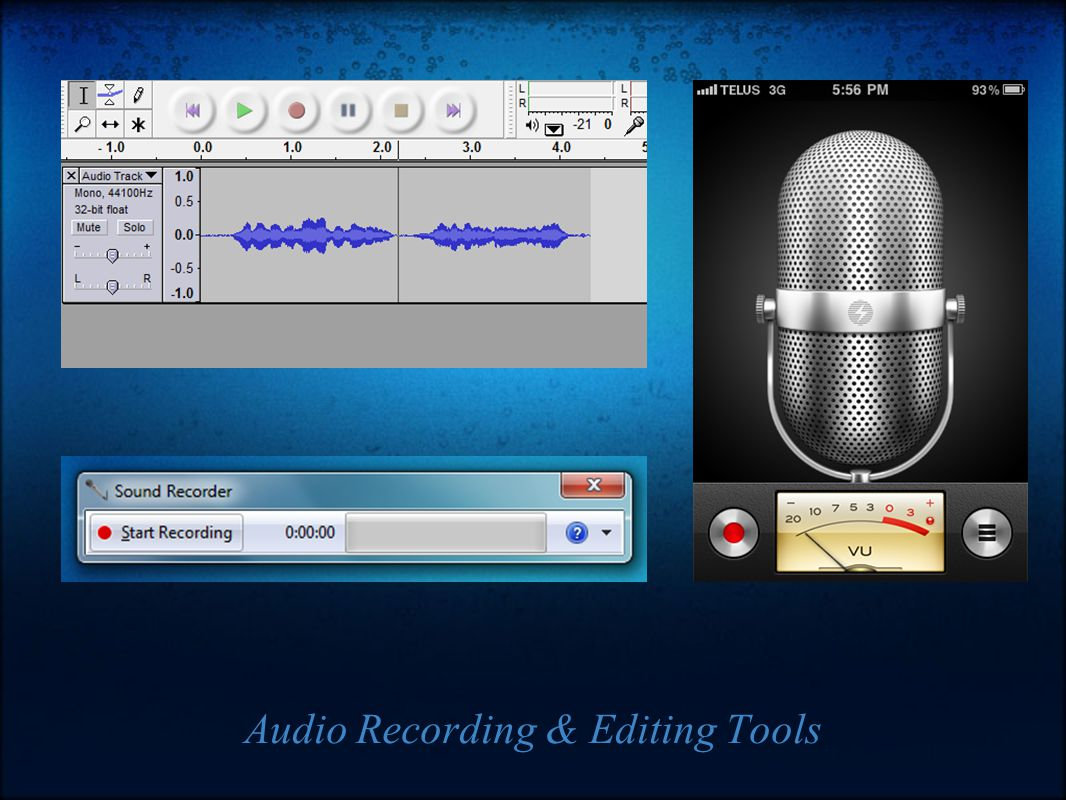 Audio Recording & Editing Tools