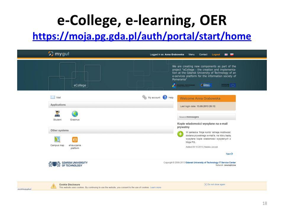 e-College, e-learning, OER https://moja.pg.gda.pl/auth/portal/start/home https://moja.pg.gda.pl/auth/portal/start/home 18