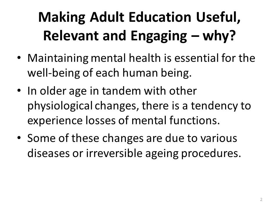 Making Adult Education Useful, Relevant and Engaging – why.