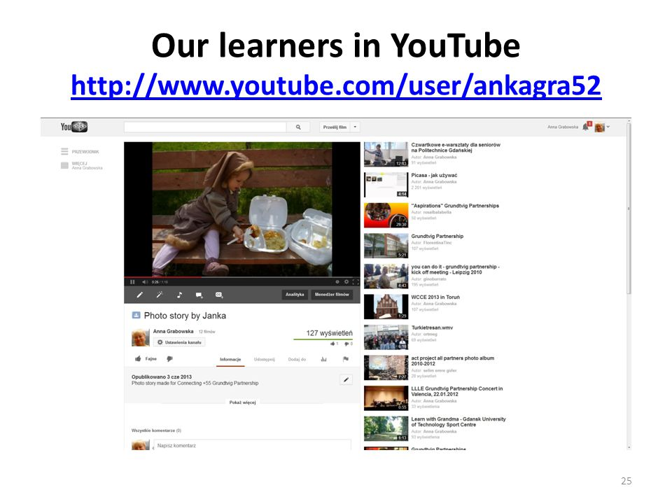 Our learners in YouTube http://www.youtube.com/user/ankagra52 http://www.youtube.com/user/ankagra52 25