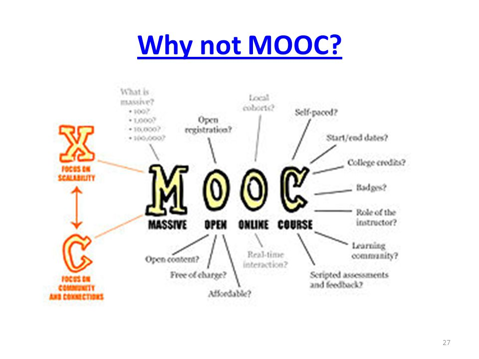 Why not MOOC 27