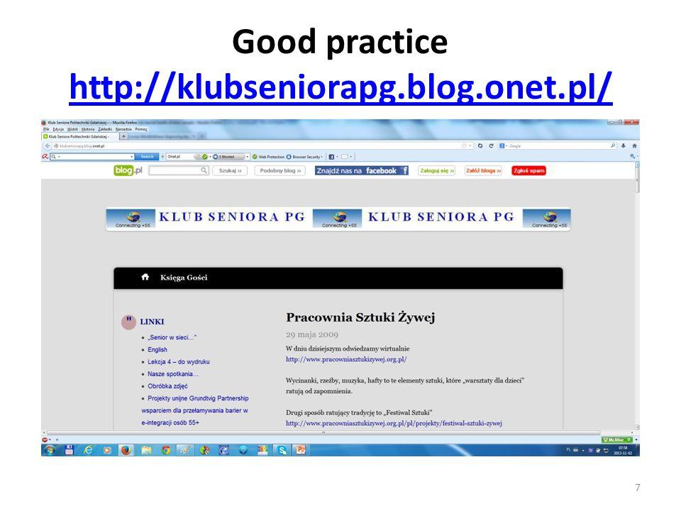 Good practice http://klubseniorapg.blog.onet.pl/ http://klubseniorapg.blog.onet.pl/ 7