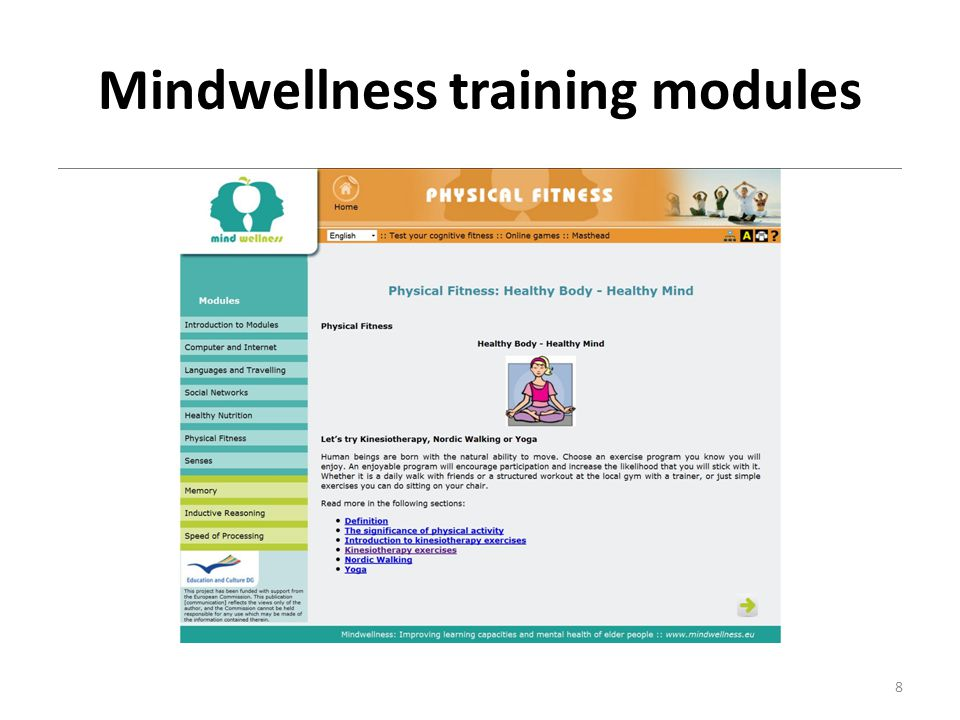 Mindwellness training modules 8