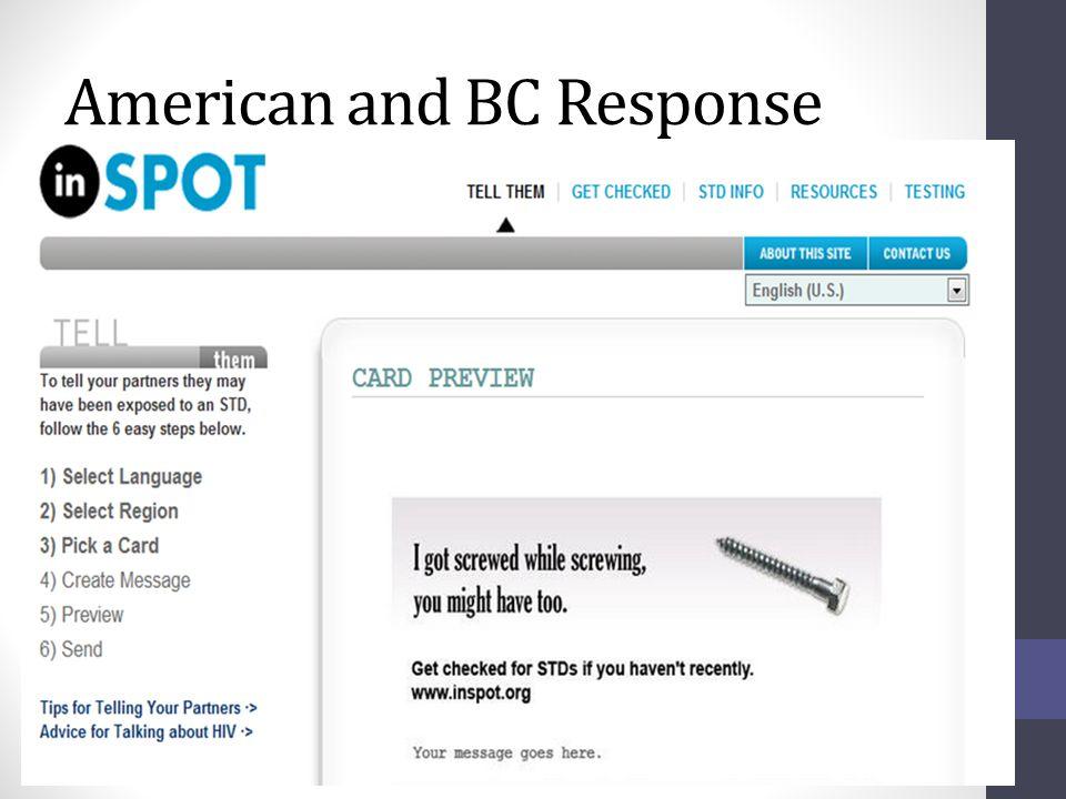 American and BC Response