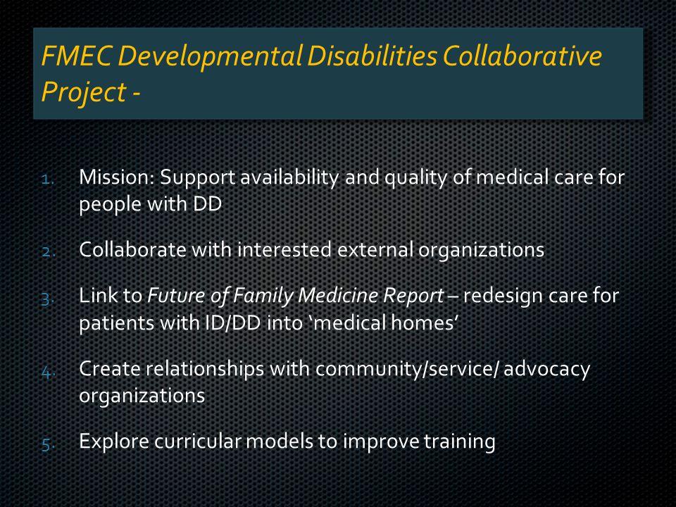 FMEC Developmental Disabilities Collaborative Project - 1.