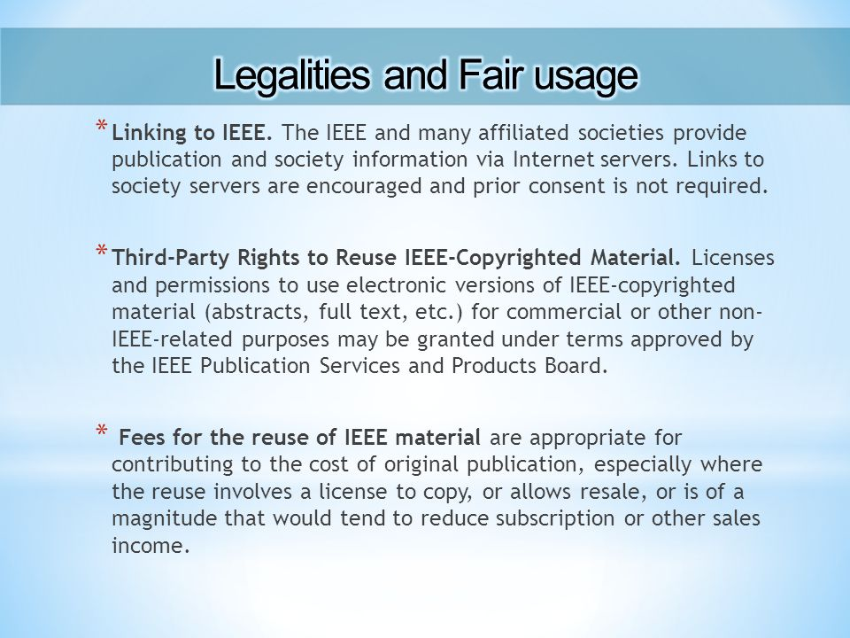 * Linking to IEEE.