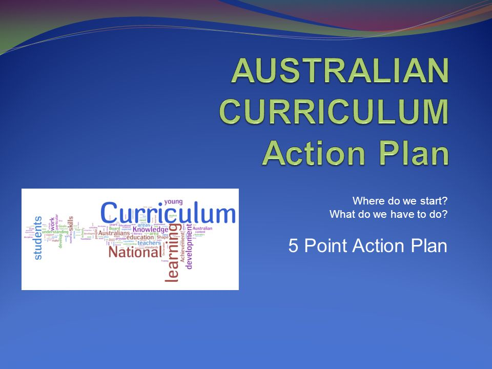 Where do we start What do we have to do 5 Point Action Plan