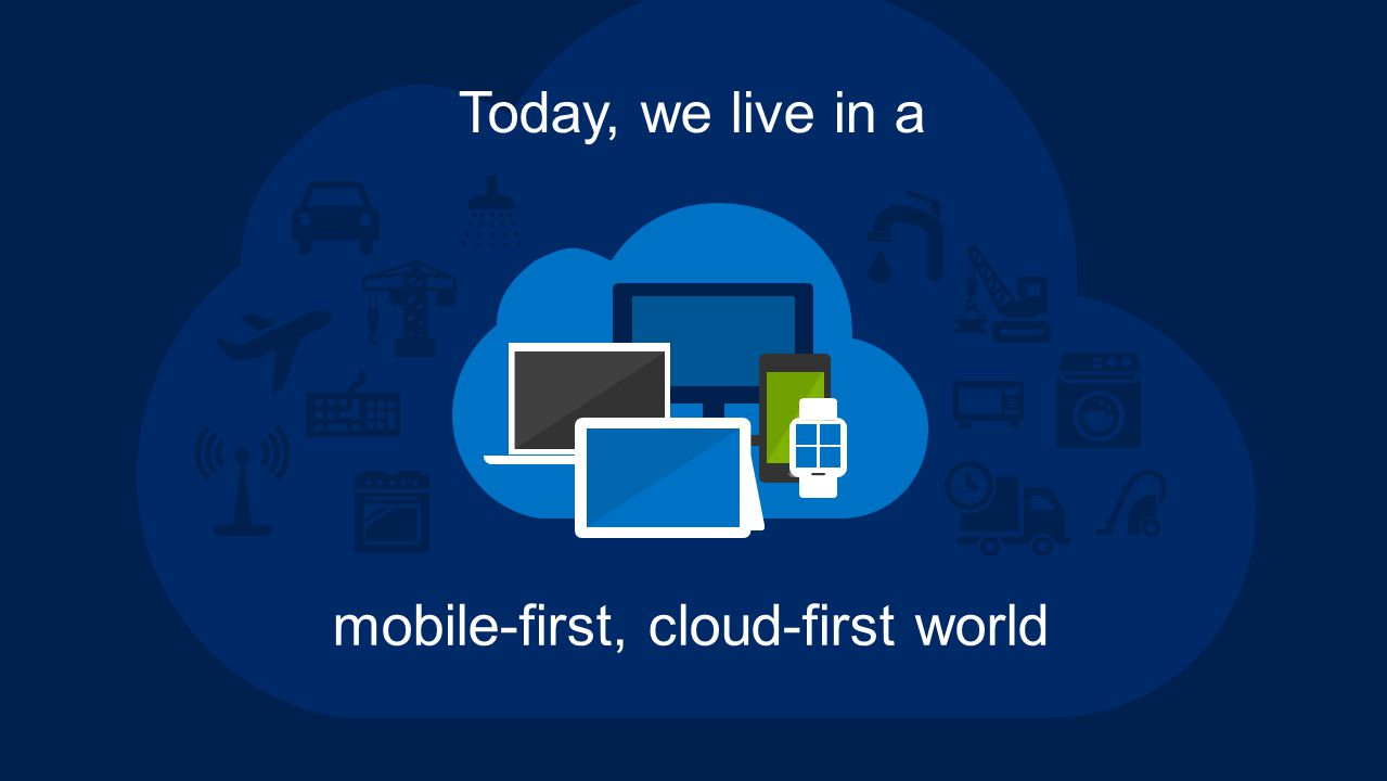 Today, we live in a mobile-first, cloud-first world
