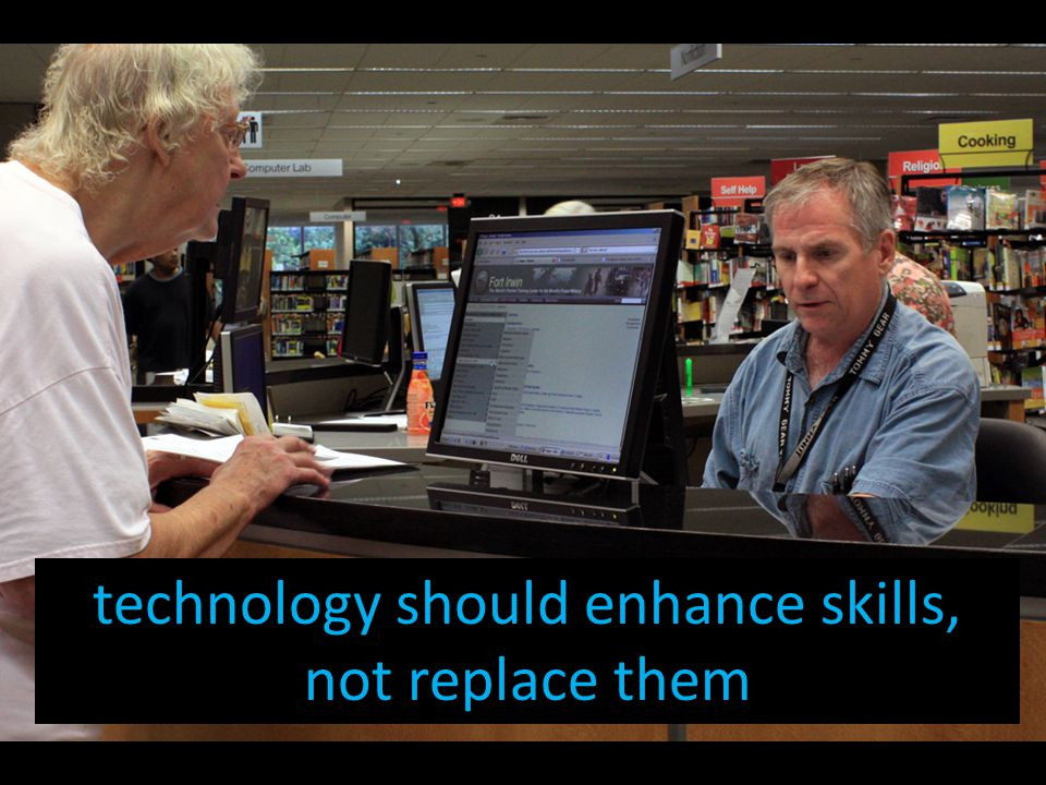 technology should enhance skills, not replace them