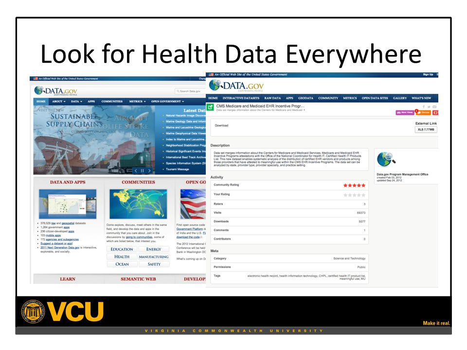 Look for Health Data Everywhere