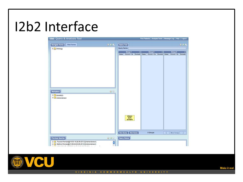I2b2 Interface