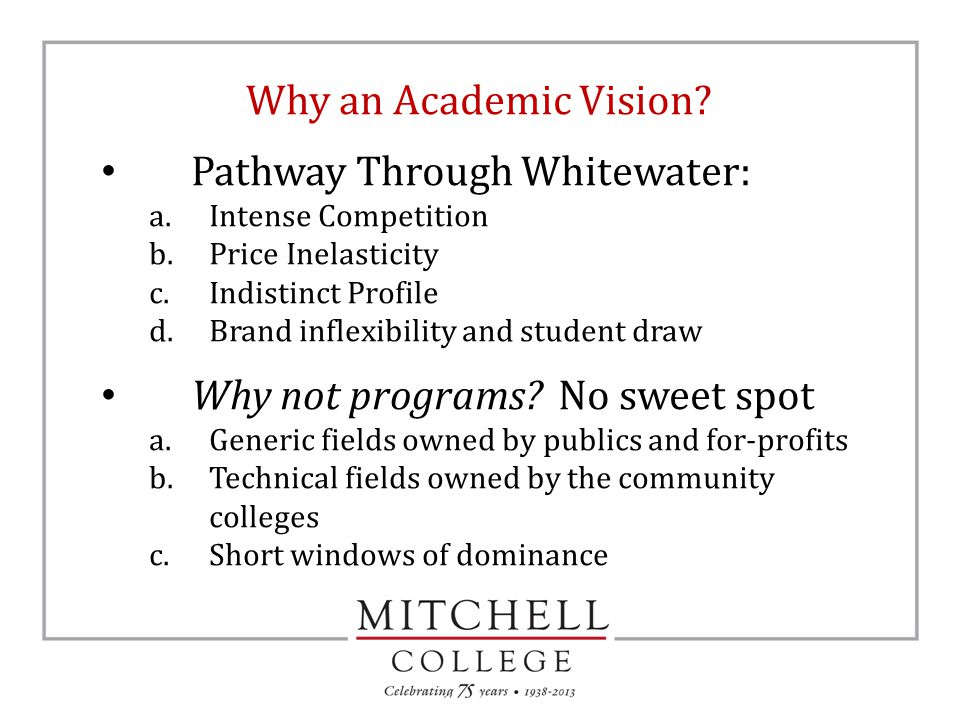 Why an Academic Vision.
